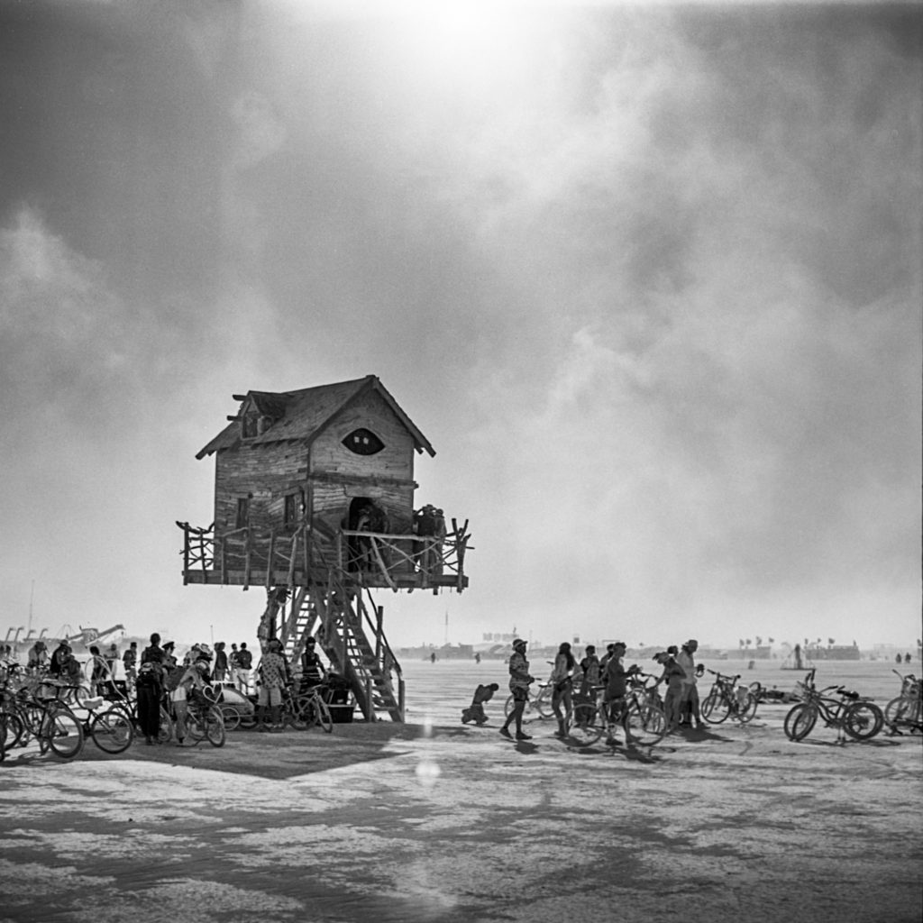 Baba Yaga's House - Art Installation at Burning Man