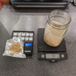 weighing barley and oats